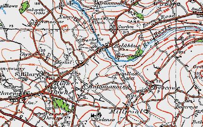 Old map of Relubbus in 1919