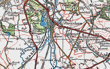 Old map of Renishaw in 1923