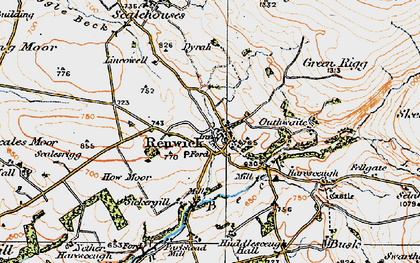 Old map of Lincowell in 1925