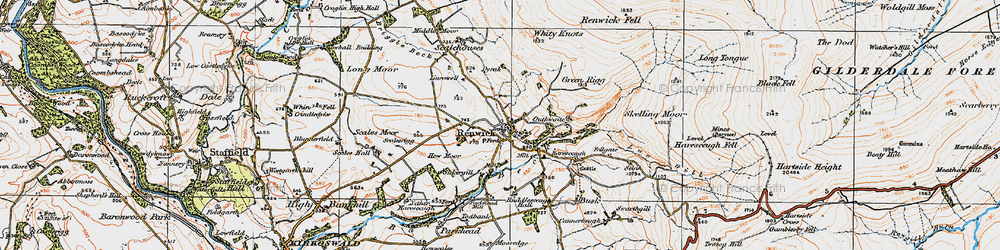 Old map of Renwick in 1925