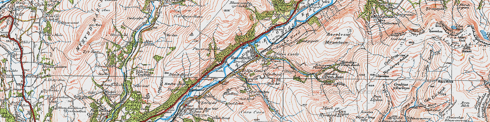 Old map of Resolven in 1923