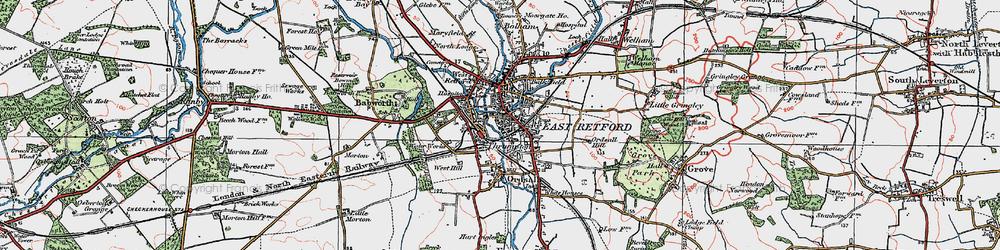 Old map of Retford in 1923