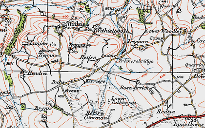 Old map of Retire in 1919