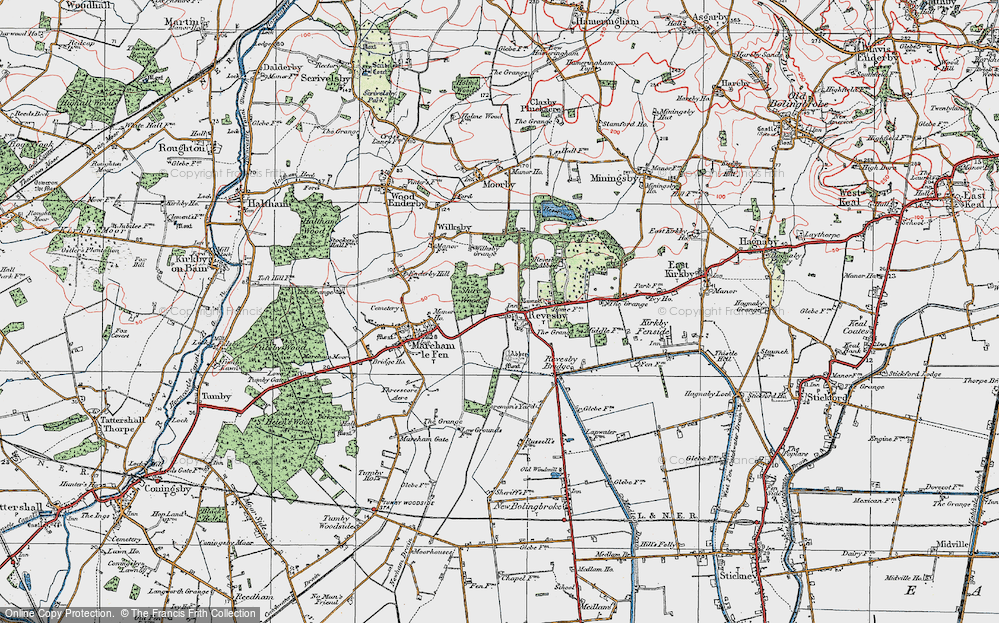 Old Map of Revesby, 1923 in 1923