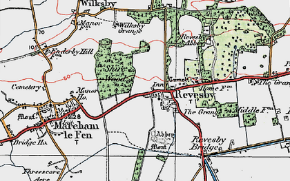 Old map of Revesby in 1923