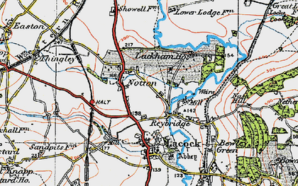 Old map of Reybridge in 1919