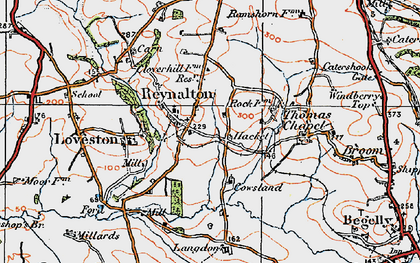 Old map of Langdon in 1922