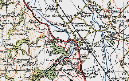 Old map of Bachymbyd Fawr in 1922