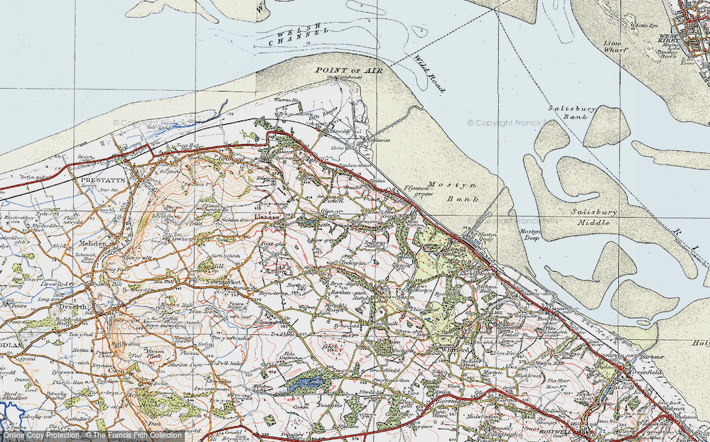 Old Map of Historic Map covering Afon y Garth in 1924