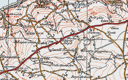 Old map of Allt y corde in 1923
