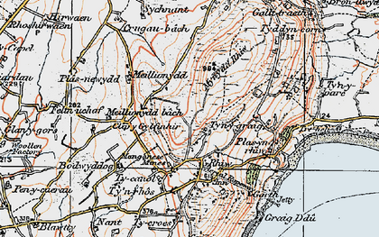 Old map of Rhiw in 1922