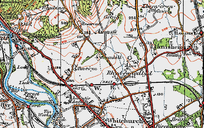 Old map of Rhiwbina in 1919