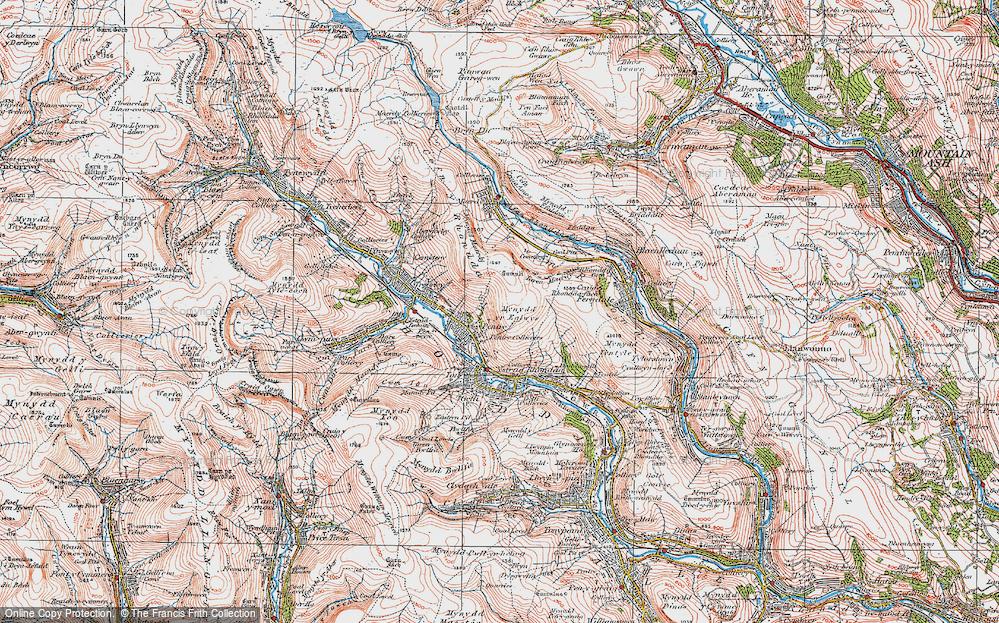 Old Map of Rhondda, 1923 in 1923