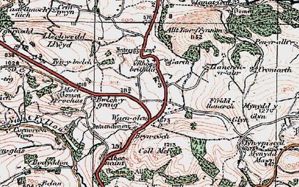 Old map of Allt Tair Ffynnon in 1921