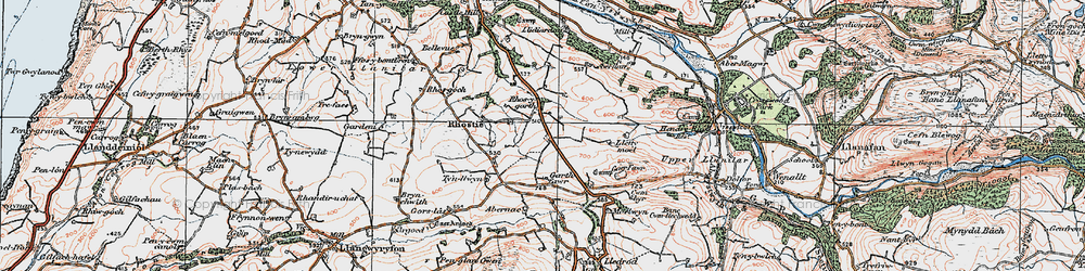 Old map of Abernac in 1922