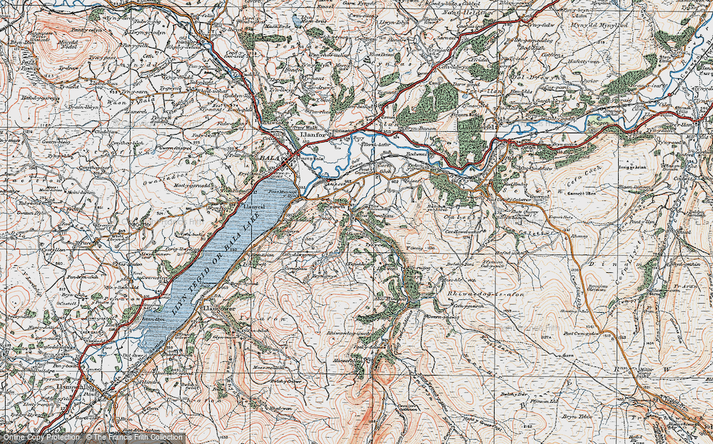 Old Map of Historic Map covering Alltrugog in 1922