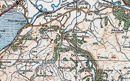 Old map of Alltrugog in 1922
