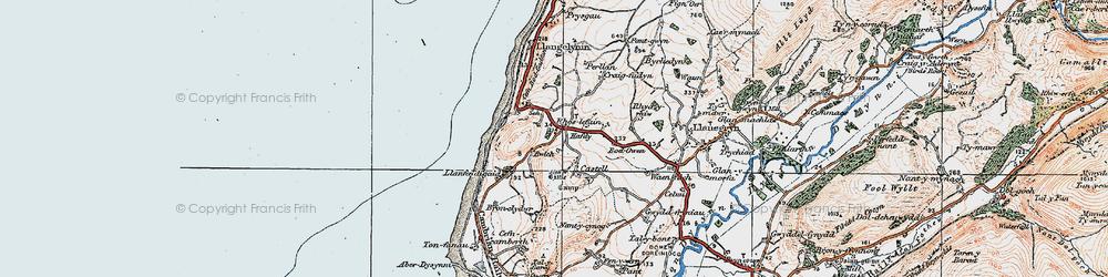 Old map of Rhoslefain in 1922