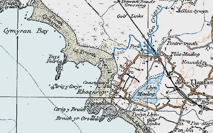 Old map of Ynys Feirig in 1922