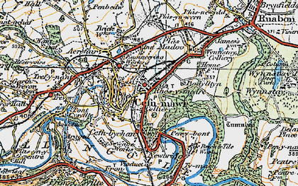 Old map of Rhosymedre in 1921