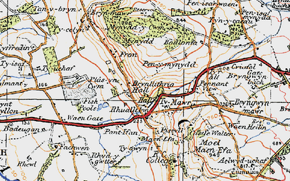 Old map of Rhuallt in 1922