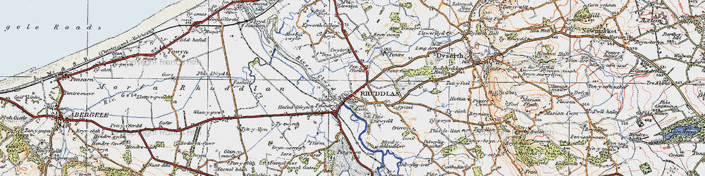 Old map of Ynys in 1922