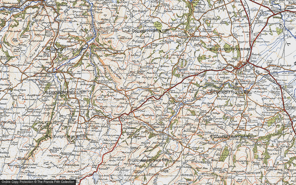 Old Map of Historic Map covering Fron in 1922