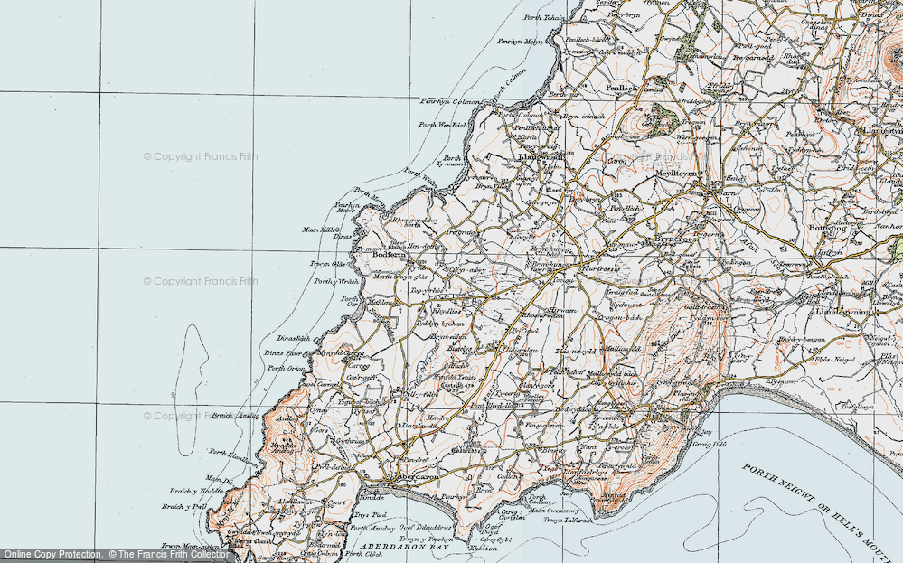 Old Map of Historic Map covering Tirtopyn in 1922