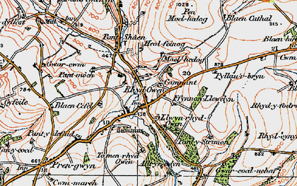 Old map of Alltyrodyn in 1923