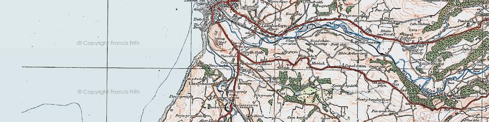 Old map of Rhydyfelin in 1922