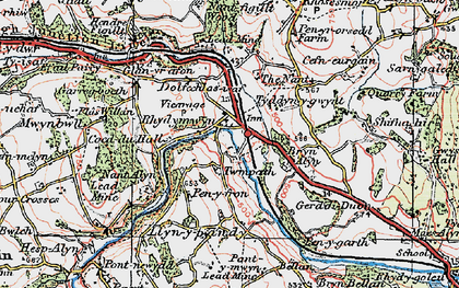 Old map of Rhydymwyn in 1924
