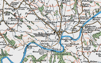 Old map of Leece's Wood in 1924