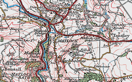 Old map of Riber in 1923
