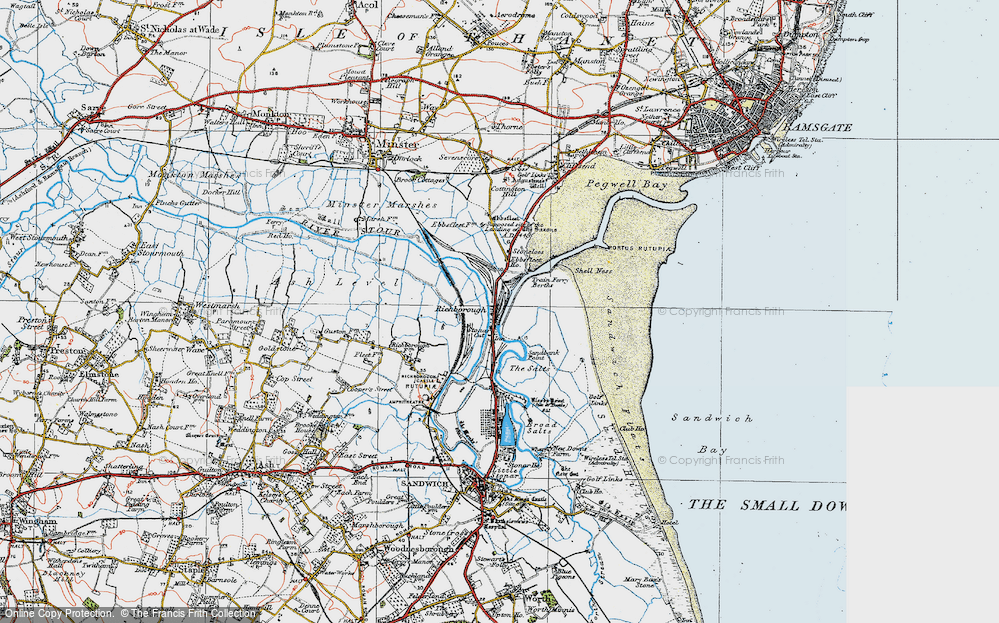 Old Map of Historic Map covering Back Sand Point in 1920