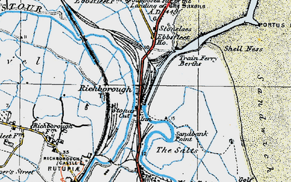 Old map of Back Sand Point in 1920