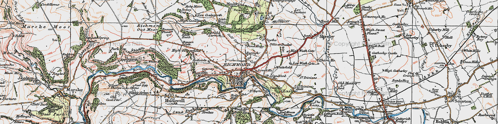 Old map of Richmond in 1925