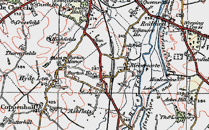 Old map of Ashflats in 1921