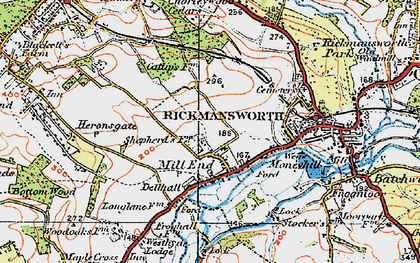 Old map of Rickmansworth in 1920