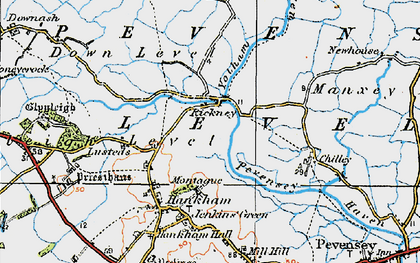Old map of Yotham in 1920