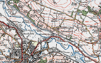 Old map of Leache's Br in 1925