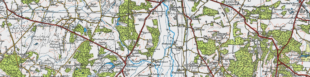 Old map of Yewtree Copse in 1919