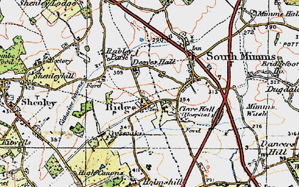 Old map of Ridge in 1920