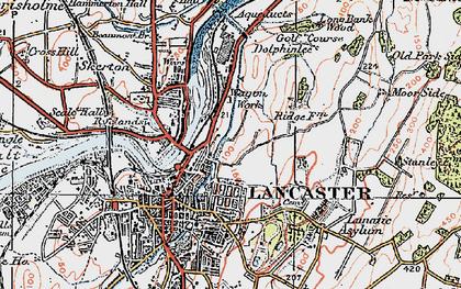 Old map of Ashton Meml in 1924