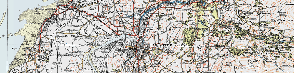 Old map of Williamson Park in 1924