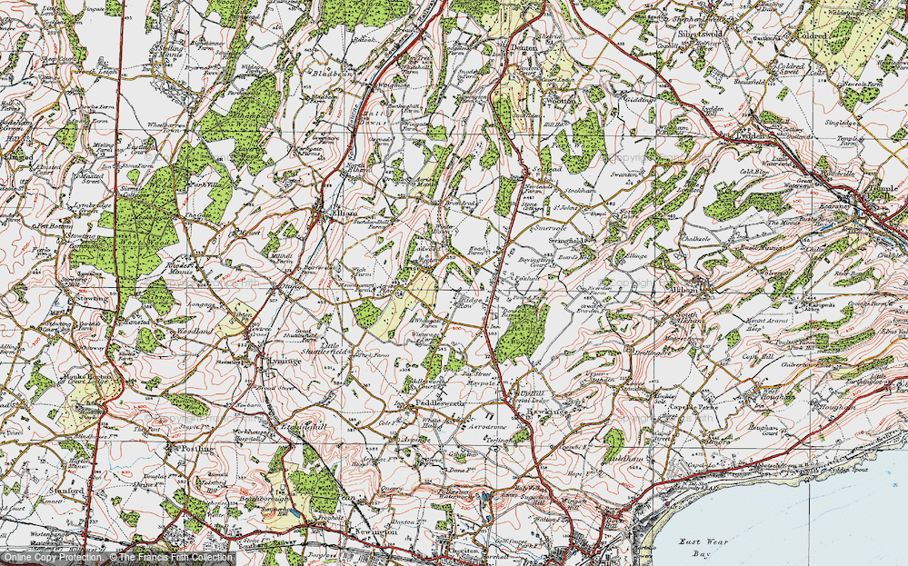 Old Map of Historic Map covering Acrise Place in 1920