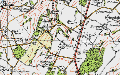 Old map of Acrise Place in 1920