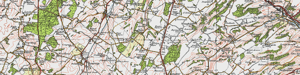 Old map of White Gate in 1920