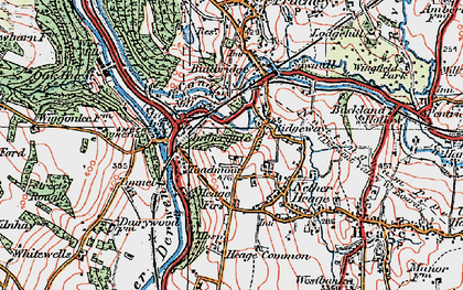 Old map of Ambergate in 1921
