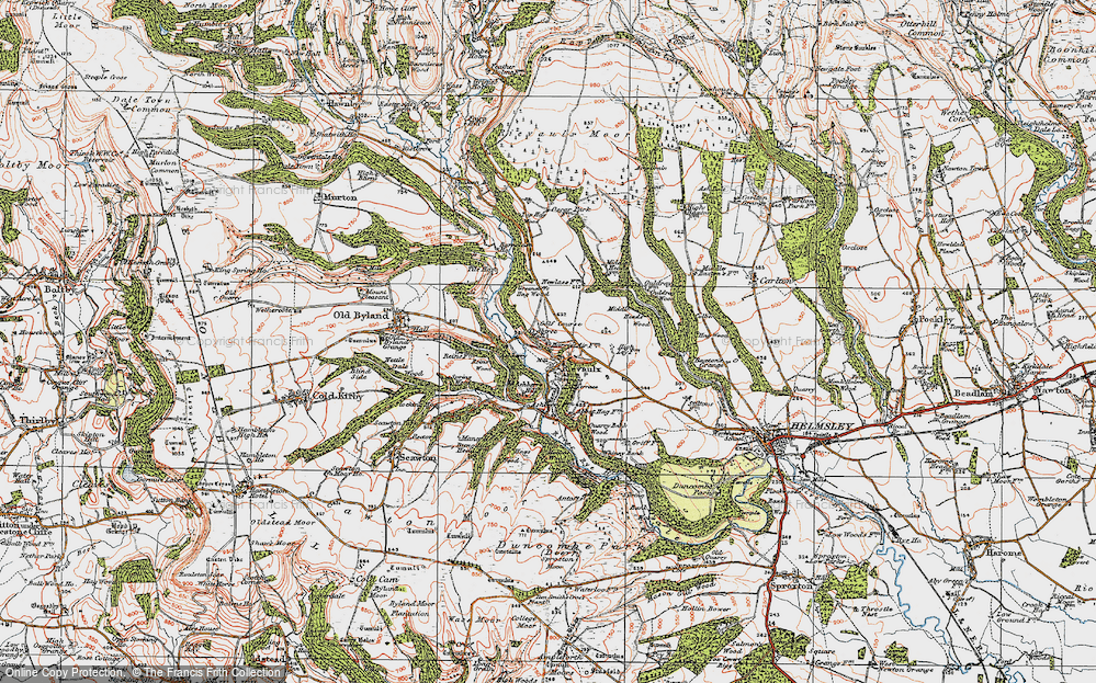 Old Map of Historic Map covering Ashberry Wood in 1925