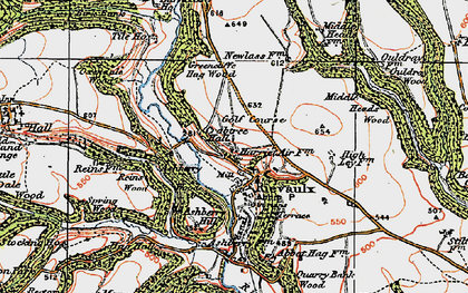 Old map of Ashberry Wood in 1925